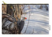 Pileated Woodpecker Winter Carry-all Pouch