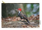 Pileated Woodpecker On Log Carry-all Pouch