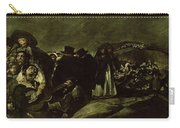 Pilgrimage To San Isidros Fountain, C.18213 Oil On Canvas Carry-all Pouch