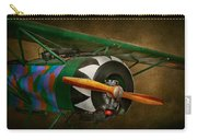 Pilot - Plane - German Ww1 Fighter - Fokker D Viii Carry-all Pouch by Mike Savad