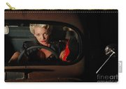 Pin Up Girl In A Classic Rat Rod Car Carry-all Pouch