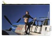 Pin-up Girl Standing On The Wing Carry-all Pouch