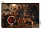 Pin Up Girl With Blow Torch Carry-all Pouch