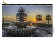 Pinapple Fountain Charleston Sc Sunrise Carry-all Pouch