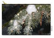 Pine Branch With Ice And Stars Carry-all Pouch