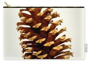 Pine Cone On White Carry-all Pouch