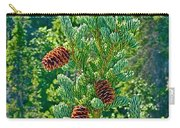 Pine Cones On Spruce Tree In Rancheria Falls Recreation Site-yt Carry-all Pouch