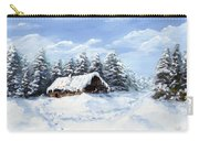 Pine Forest In Winter Carry-all Pouch