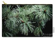 Pine Needles In Ice Carry-all Pouch by Betty LaRue