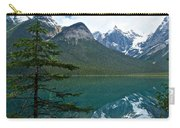Pine Over Emerald Lake Reflection In Yoho National Park-british Columbia-canada Carry-all Pouch
