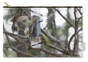 Pine Siskins In Flight Carry-all Pouch