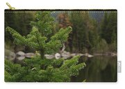 Pine Tree And Rain Drops Carry-all Pouch