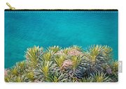 Pine Tree Branches With Turquoise Sea Background Carry-all Pouch