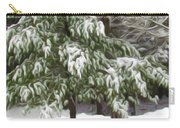 Pine Tree Covered With Snow 2 Carry-all Pouch