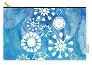Pine Tree Snowflakes - Baby Blue Carry-all Pouch