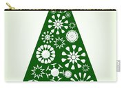 Pine Tree Snowflakes - Green Carry-all Pouch