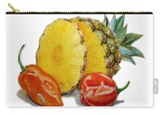 Pineapple And Habanero Peppers  Carry-all Pouch
