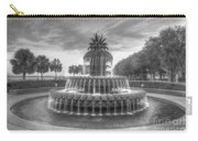 Pineapple Fountain In Black And White Carry-all Pouch