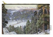 Pines In Winter Carry-all Pouch by George Gardner Symons