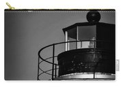Piney Point Lighthouse And Moon In Black And White Carry-all Pouch