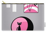 Pink 3 On Gray Carry-all Pouch
