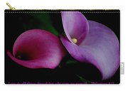 Pink An Purple Calla Lilys Carry-all Pouch