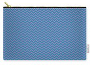 Pink And Blue Chevron Carry-all Pouch