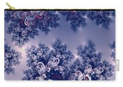 Pink And Blue Morning Frost Fractal Carry-all Pouch