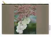 Pink And Green Hydrangea Closeup Carry-all Pouch