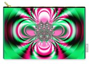Pink And Green Rotating Flower Fractal 74  Carry-all Pouch