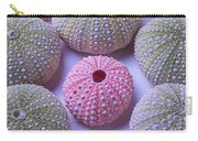 Pink And Green Urchins Carry-all Pouch