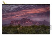 Pink And Purple Desert Skies  Carry-all Pouch