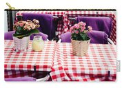 Pink And Purple Dining Carry-all Pouch