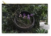 Pink And Purple Flowers In A Slanting Container Carry-all Pouch