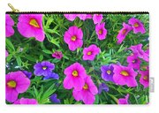 Pink And Purple Petunias Carry-all Pouch