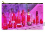 Pink And Red Bottles Carry-all Pouch by Kaye Menner
