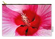 Pink And Red Hibiscus Flower Carry-all Pouch