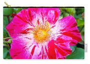 Pink And Red Striped Rose Carry-all Pouch