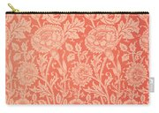 Pink And Rose Wallpaper Design Carry-all Pouch by William Morris