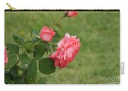 Pink And White Blended Stem Carry-all Pouch