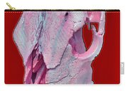 Pink And White Breast Cancer Awareness Cow Skull Carry-all Pouch
