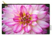Pink And White Dahlia Square Carry-all Pouch