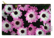 Pink And White Daisies Carry-all Pouch