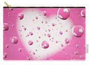Pink And White Heart Reflections In Water Droplets Carry-all Pouch