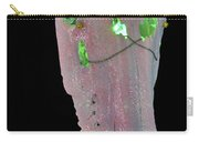 Pink And White Illuminating Horse Skull Carry-all Pouch