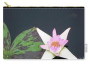 Pink And White Lily Carry-all Pouch