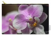 Pink And White Orchid Carry-all Pouch
