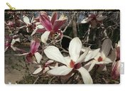 Pink And White Spring Magnolia Carry-all Pouch