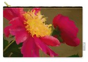 Pink And Yellow Au Deux Carry-all Pouch