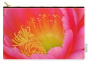 Pink And Yellow Cactus Flower Carry-all Pouch